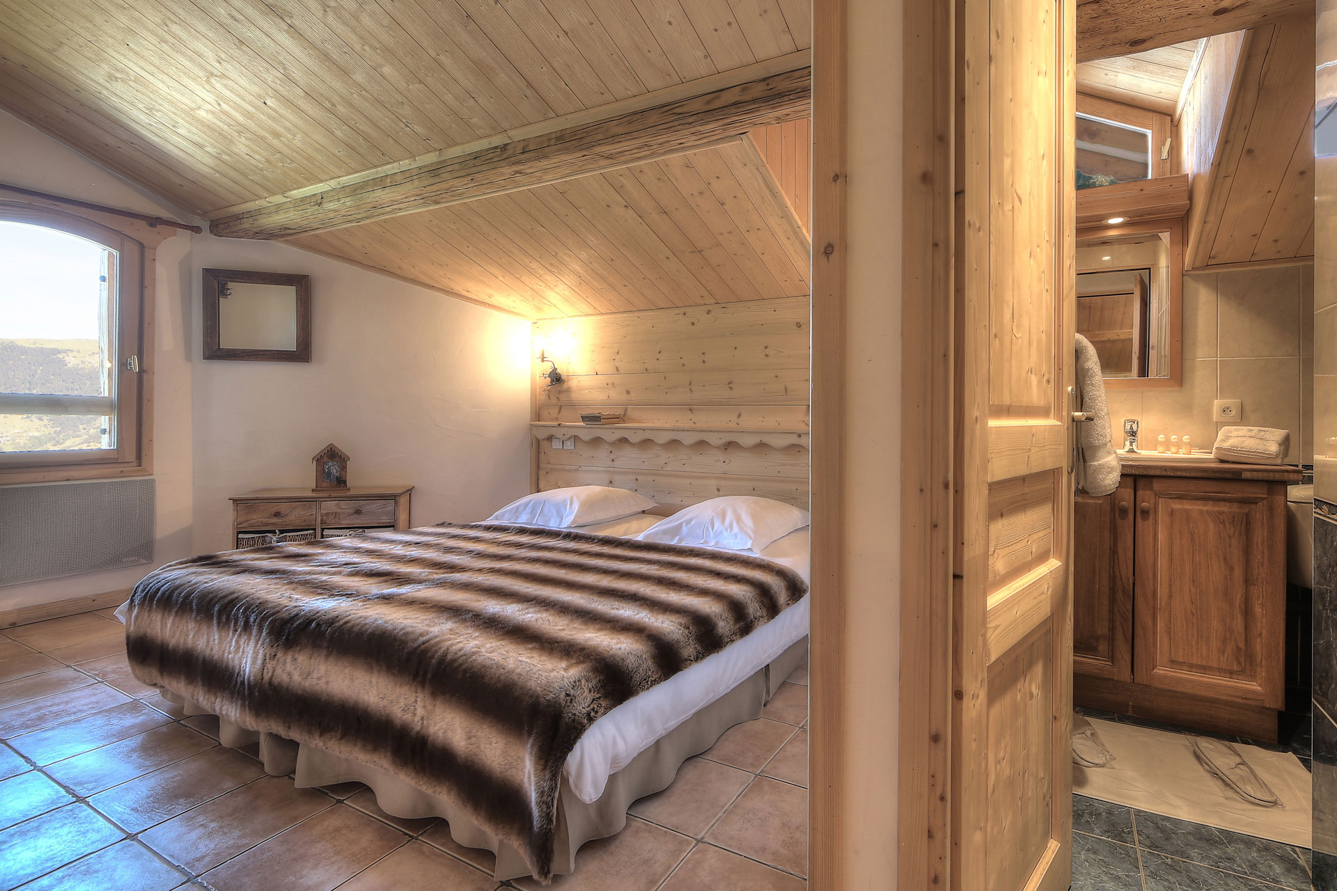 Location dans un chalet traditionnel